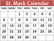 Click to view the St. Mark calendar