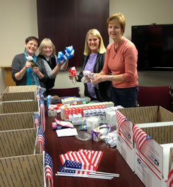 Outreach Committee members pack Care Packages